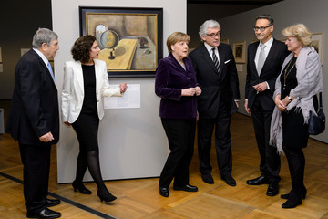 Walter Smerling Chancellor Angela Merkel Opens Holocaust Art Exhibition in Berlin