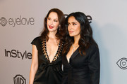 Actors Ashley Judd (L) and Salma Hayek attend 19th Annual Post-Golden Globes Party hosted by Warner Bros. Pictures and InStyle at The Beverly Hilton Hotel on January 7, 2018 in Beverly Hills, California.