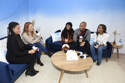 """Carrie Keagan speaks with Channing Godfrey Peoples, Alexis Chikaeze, Kendrick Sampson and Nicole Beharie of """"Miss Juneteenth"""" at WarnerMedia Lodge: Elevating Storytelling with AT&T during Sundance Film Festival 2020 on January 24, 2020 in Park City, Utah."""