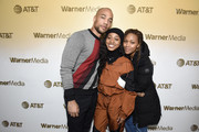 Kendrick Sampson, Alexis Chikaeze and Nicole Beharie stop by WarnerMedia Lodge: Elevating Storytelling with AT&T during Sundance Film Festival 2020 on January 24, 2020 in Park City, Utah.