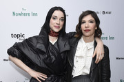 "St. Vincent and Carrie Brownstein stop by ""The Nowhere Inn"" Premiere Party at WarnerMedia Lodge: Elevating Storytelling with AT&T presented by Topic Studios during Sundance Film Festival 2020 on January 26, 2020 in Park City, Utah."