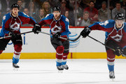Erik Johnson #6 of the Colorado Avalanche skates against the Washington Capitals with teammates Jan Hejda #8 and Dennis Everberg #45 at Pepsi Center on November 20, 2014 in Denver, Colorado. The Capitals defeated the Avalanche 3-2.