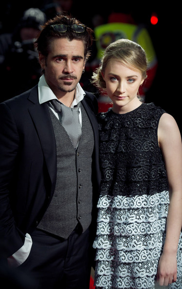 Colin Farrell and Saoirse Ronan attend the UK premiere of  'The Way Back' at the Curzon Mayfair Cinema on December 8, 2010 in London, England.