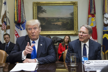 Wayne LaPierre Trump Holds Meeting on Supreme Court Nominee Gorsuch