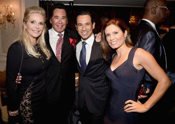 30th Annual Great Sports Legends Dinner to Benefit the Buoniconti Fund to Cure Paralysis - Legends Reception [event,fashion,little black dress,suit,dress,formal wear,fashion design,style,party,helio castroneves,adriana henao,wayne newton,kathleen mccrone,buoniconti fund to cure paralysis - legends reception,l-r,great sports legends dinner,annual great sports legends dinner,the waldorf astoria,new york city]