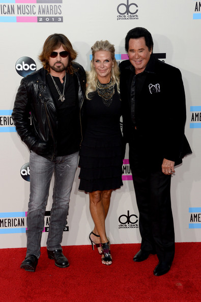 Arrivals at the American Music Awards — Part 3 [red carpet,carpet,event,flooring,premiere,arrivals,billy ray cyrus,wayne newton,kathleen mccrone,american music awards,l-r,california,los angeles,nokia theatre l.a. live]