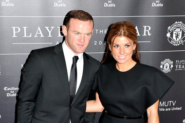 Wayne Rooney Coleen Rooney Manchester United Player of the Year Awards