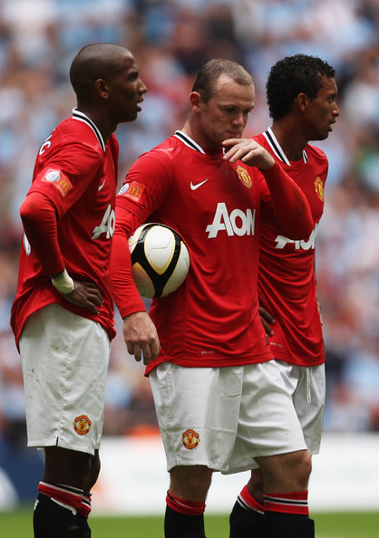 Wayne Rooney Young Wayne Rooney Ashley Young Wayne Rooney and Nani of Manchester United