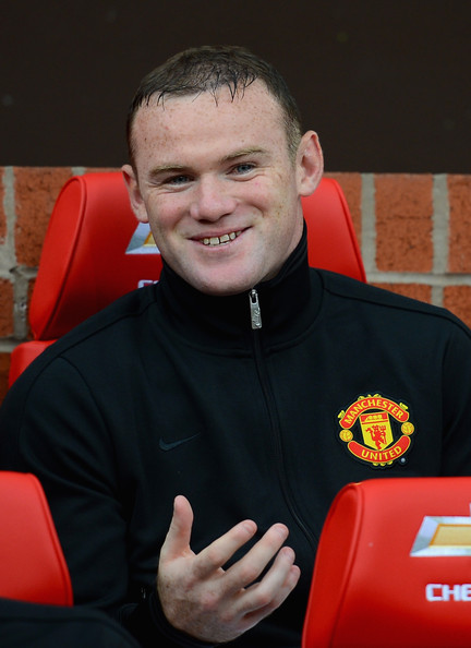 Wayne Rooney Zimbio Wayne Rooney Wayne Rooney of Manchester United looks on from the bench