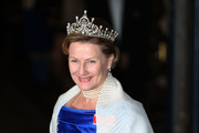 Queen Sonja of Norway attends the Gala dinner for the wedding of Prince Guillaume Of Luxembourg and Stephanie de Lannoy at the Grand-ducal Palace on October 19, 2012 in Luxembourg, Luxembourg. The 30-year-old hereditary Grand Duke of Luxembourg is the last hereditary Prince in Europe to get married, marrying his 28-year old Belgian Countess bride in a lavish 2-day ceremony.
