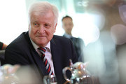 German Interior Minister Horst Seehofer arrives for the weekly government cabinet meeting on October 24, 2018 in Berlin, Germany. High on the morning's agenda was a review of Germany's export policy for conventional weapons for the first half of 2018.