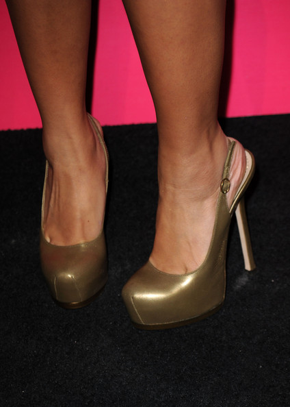 Brenda Song Actress Brenda Song (shoe detail) arrives at the Us Weekly Hot Hollywood Style Issue celebration held at Drai's Hollywood at the W Hollywood Hotel on April 22, 2010 in Hollywood, California.