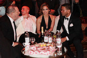 (L-R) Harvey Weinstein, Casper Smart, and Jennifer Lopez attend the The Weinstein Company's 2013 Golden Globe Awards after party presented by Chopard, HP, Laura Mercier, Lexus, Marie Claire, and Yucaipa Films held at The Old Trader Vic's at The Beverly Hilton Hotel on January 13, 2013 in Beverly Hills, California.