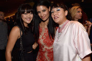 Actors Amy Okuda, Jessica Clark and director Satsuki Okawa attend  The Weinstein Company and Lexus Present Lexus Short Film at Regal Cinemas L.A. Live on July 30, 2014 in Los Angeles, California.