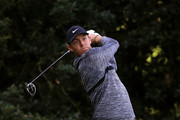 Rory McIlroy of Northern Ireland plays his tee shot on the 14th hole during the first round of the 2018 Wells Fargo Championship at Quail Hollow Club on May 3, 2018 in Charlotte, North Carolina.