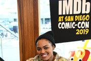 Wendy's and China Anne McClain team up to kick off Baconfest, the sizzlin' event of the summer, at the IMDb Fan Party at Comic-Con on July 18, 2019 in San Diego, California.