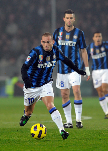 Wesley Sneijder Wesley Sneijder of FC Inter Milan during the Serie A match between Juventus FC and FC Internazionale Milano at Olimpico Stadium on February 13, 2011 in Turin, Italy.