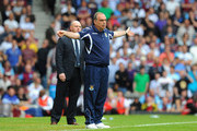 West Ham United manager Avram Grant reacts during the Barclays Premier League match between West Ham United and Blackburn Rovers at the Boleyn Ground on May 7, 2011 in London, England.