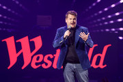 James Corden hosts Westfield London's 10th anniversary celebrations at Westfield White City on October 30, 2018 in London, England.