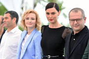 "Catrinel Marlon, Rodica Lazar and Corneliu Porumboiu attend the photocall for ""The Whistlers (La Gomera/ Les Siffleurs)"" during the 72nd annual Cannes Film Festival on May 19, 2019 in Cannes, France."