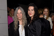 """Patti Smith and Jesse Smith attend """"The White Crow"""" New York Premiere after party at Rooftop At Pier 17 on April 22, 2019 in New York City."""