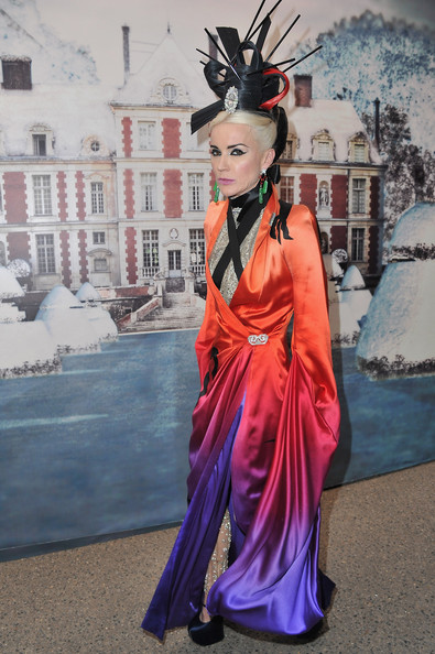 Daphne Guinness attends 'The White Fairy Tale Love Ball' in Support Of 'The Naked Heart Foundation' at Chateau De Wideville on July 6, 2011 in Crespieres, France.