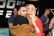 Angel Merino and Kandee Johnson attend White Fox Boutique Swimwear Launch Of 100% Salty at Catch on July 26, 2018 in West Hollywood, California.