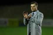 Whitehawk's Steve King looks on dejected as he thanks the fans after the teams loss during the The Emirates FA Cup Second Round Replay match between Whitehawk and Dagenham & Redbridge at The Enclosed Ground on December 16, 2015 in Brighton, England.