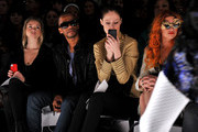 (L-R) Actress Allie Gonino, actor Eric West, model Coco Rocha, and musician Neon Hitch attend the Whitney Eve Fall 2012 fashion show during Mercedes-Benz Fashion Week at The Studio at Lincoln Center on February 15, 2012 in New York City.