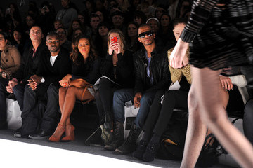 Eric West Coco Rocha Whitney Eve - Front Row - Fall 2012 Mercedes-Benz Fashion Week