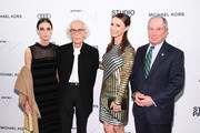 Christo, Georgina Bloomberg, Michael Bloomberg attend the Whitney Museum Of American Art Gala + Studio Party at The Whitney Museum of American Art on April 09, 2019 in New York City.