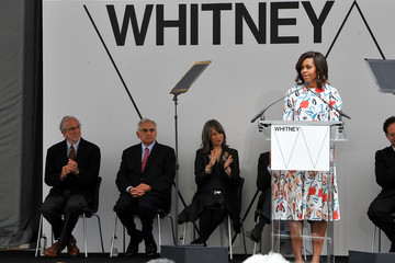 Michelle Obama Whitney Museum Of American Art Ribbon Cutting Ceremony
