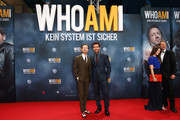 Tom Schilling ,Elyas M'Barek, Hannah Herzsprung and Wotan Wilke Moehring attend the premiere of the film 'Who am I' at Zoo Palast on September 23, 2014 in Berlin, Germany.