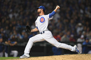 Cole Hamels #35 of the Chicago Cubs pitches in the tenth inning against the Colorado Rockies during the National League Wild Card Game at Wrigley Field on October 2, 2018 in Chicago, Illinois.
