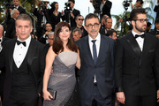 "(L-R) Actor Murat Cemcir, writer Ebru Ceylan, director Nuri Bilge Ceylan and actor Dogu Demirkol attend the screening of ""The Wild Pear Tree (Ahlat Agaci)"" during the 71st annual Cannes Film Festival at Palais des Festivals on May 18, 2018 in Cannes, France."
