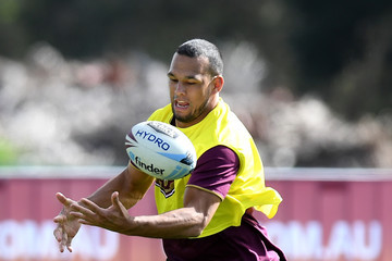Will Chambers Queensland Maroons Training Session