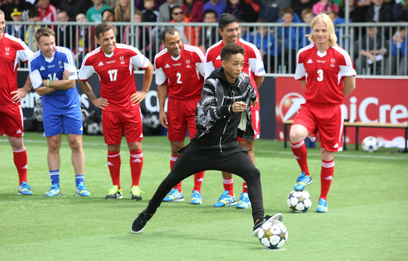Jaden Smith attends UEFA's Champions Festival which comes to London to coincide with Wembley hosting the Champions League final at Queen Elizabeth Olympic Park on May 25, 2013 in London, England.  Jaden Smith and Will Smith are in London ahead of the release of their film 'After Earth'.