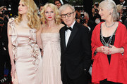"""Actress Lucy Punch, director Woody Allen, actress Naomi Watts, actress Gemma Jones and Cannes Film Festival President Gilles Jacob attend the """"You Will Meet A Tall Dark Stranger"""" Premiere at the Palais des Festivals during the 63rd Annual Cannes Film Festival on May 15, 2010 in Cannes, France."""