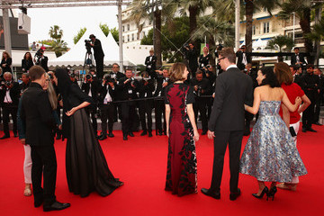 Willem Dafoe Do-Yeon Jeon Palm D'Or Winners Red Carpet - The 67th Annual Cannes Film Festival