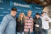 (L-R) SiriusXM's Jeremy Tepper, Paula Nelson, Buddy Cannon, Willie Nelson, and Dallas Wayne attend a discussion of Willie Nelson's new album 'Ride Me Back Home' during a taping for SiriusXM's Willie's Roadhouse at Luck Ranch on April 13, 2019 in Spicewood, Texas.