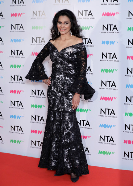 National Television Awards - Press Room [clothing,red carpet,dress,carpet,shoulder,premiere,flooring,hairstyle,fashion model,fashion,wilnelia forsyth,national television awards,room,o2 arena,london,england]
