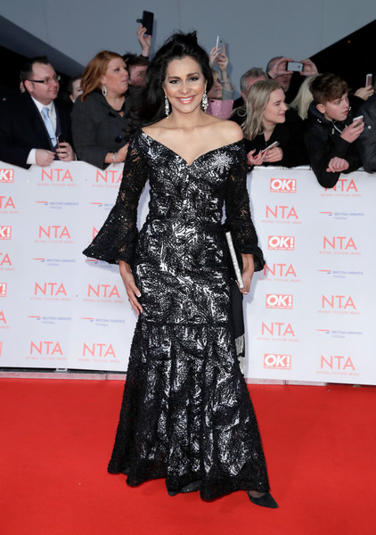 National Television Awards - Red Carpet Arrivals [red carpet,carpet,clothing,dress,premiere,flooring,fashion,fashion model,gown,event,red carpet arrivals,wilnelia forsyth,national television awards,o2 arena,london,england]