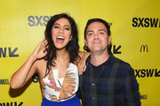 "Actors Stephanie Beatriz (L) and Joe Lo Truglio attend the ""Win It All"" premiere 2017 SXSW Conference and Festivals on March 11, 2017 in Austin, Texas."