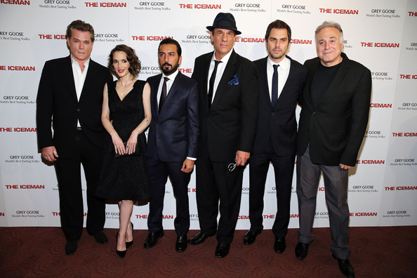 'The Iceman' Screening in NYC [the iceman,actors,danny abeckaser,winona ryder,robert davi,ray liotta,millennium entertainment host a special new york,screening,l-r,suit,event,formal wear,tuxedo,white-collar worker,premiere,carpet,team,grey goose vodka]