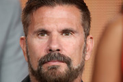 Actor Lorenzo Lamas onstage during the 'The Celebrity Apprentice' panel discussion at the NBC/Universal portion of the 2015 Winter TCA Tour at the Langham Hotel on January 16, 2015 in Pasadena, California.
