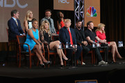 (L-R top row) Geraldo Rivera, TV personality Kate Gosselin, executive producer Mark Burnett and actress Kenya Moore. (L-R bottom row) Actress Vivica A. Fox, TV personality Brandi Glanville, executive producer/host Donald Trump, actor Lorenzo Lamas, actor Ian Ziering and Tv personality Leeza Gibbons speak onstage during the 'The Celebrity Apprentice' panel discussion at the NBC/Universal portion of the 2015 Winter TCA Tour at the Langham Hotel on January 16, 2015 in Pasadena, California.