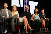 Actors Adam Rayner, Jennifer Finnigan, Ashraf Barhom, Moran Atias and Justin Kirk of the television show 'Tyrant' onstage during the FX portion of the 2014 Television Critics Association Press Tour at the Langham Hotel on January 14, 2014 in Pasadena, California.