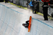 (FRANCE OUT) Torah Bright of Australia takes 3rd place during the Winter X Games Women's Snowboard Superpipe on January 24, 2015 in Aspen, USA.