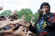 Missy Elliot performs live on the Main Stage during Day 2 of the Wireless Festival in Hyde Park on July 3, 2010 in London, England.