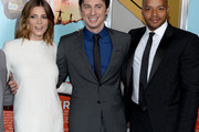 "(L-R) Ashley Greene, Zach Braff and Donald Faison attend the ""Wish I Was Here"" screening at AMC Lincoln Square Theater on July 14, 2014 in New York City."